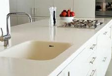 Solid surface kitchen worktops London
