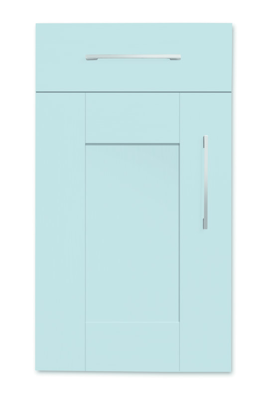 Mirano Richmond Kitchen Painted Traditional Classic Timber Oak Matte Blue Tongue Groove Shaker Door