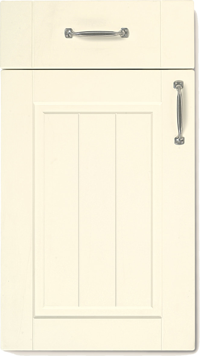 Mirano Kitchen Boston Matte Cream Natural Classic Traditional Painted Natural Oak Timber Beaded Tongue Groove Shaker Door