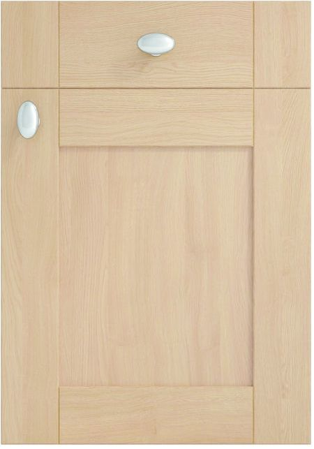 Mirano Kitchen Cambridge Natural Classic Traditional Natural Oak Timber Beaded Tongue Groove Shaker Door
