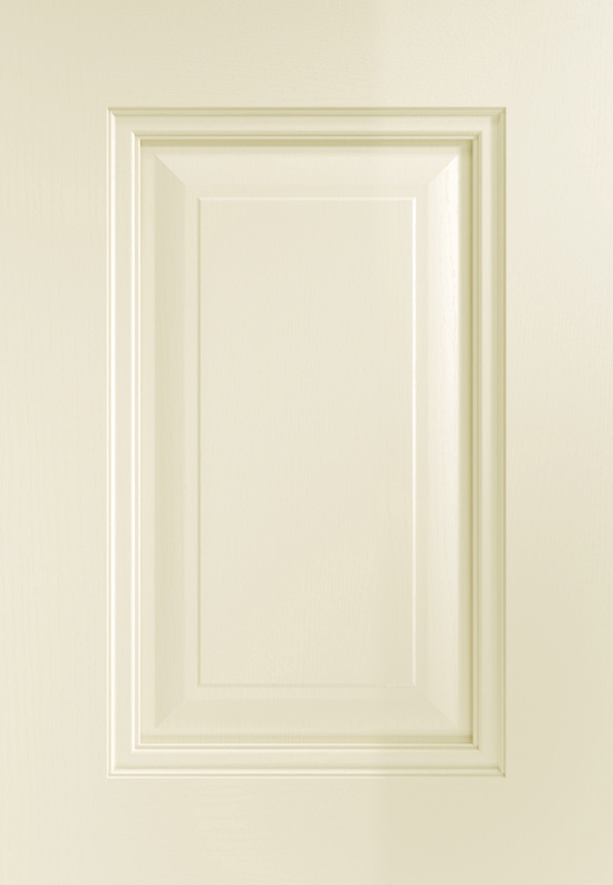 Kitchen Stori Painted Traditional Timber Jefferson Matte Ivory 5 Piece Shaker Door Beading