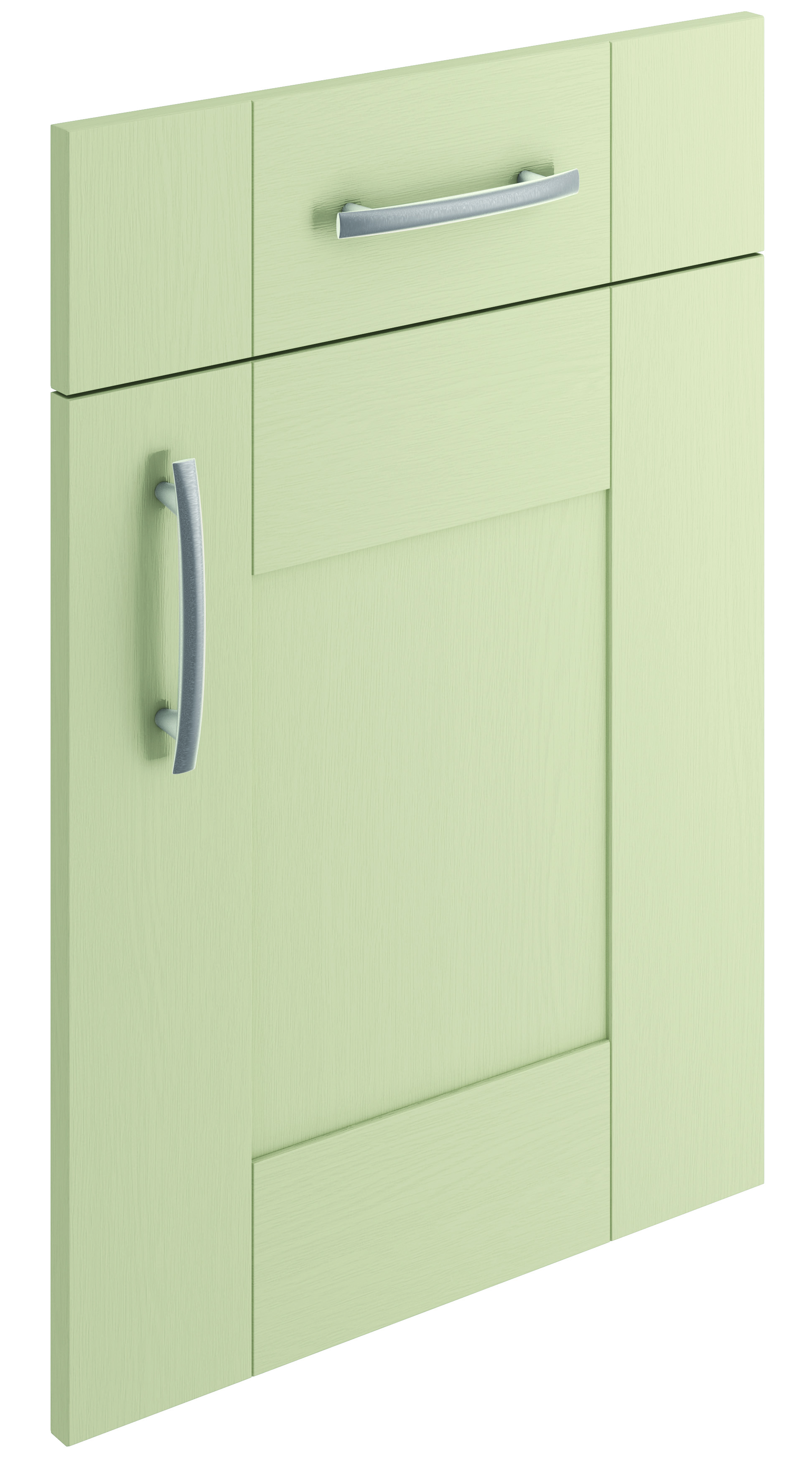Mirano Cartmel Kitchen Painted Traditional Classic Timber Oak Matte Sage Green Tongue Groove Shaker Door