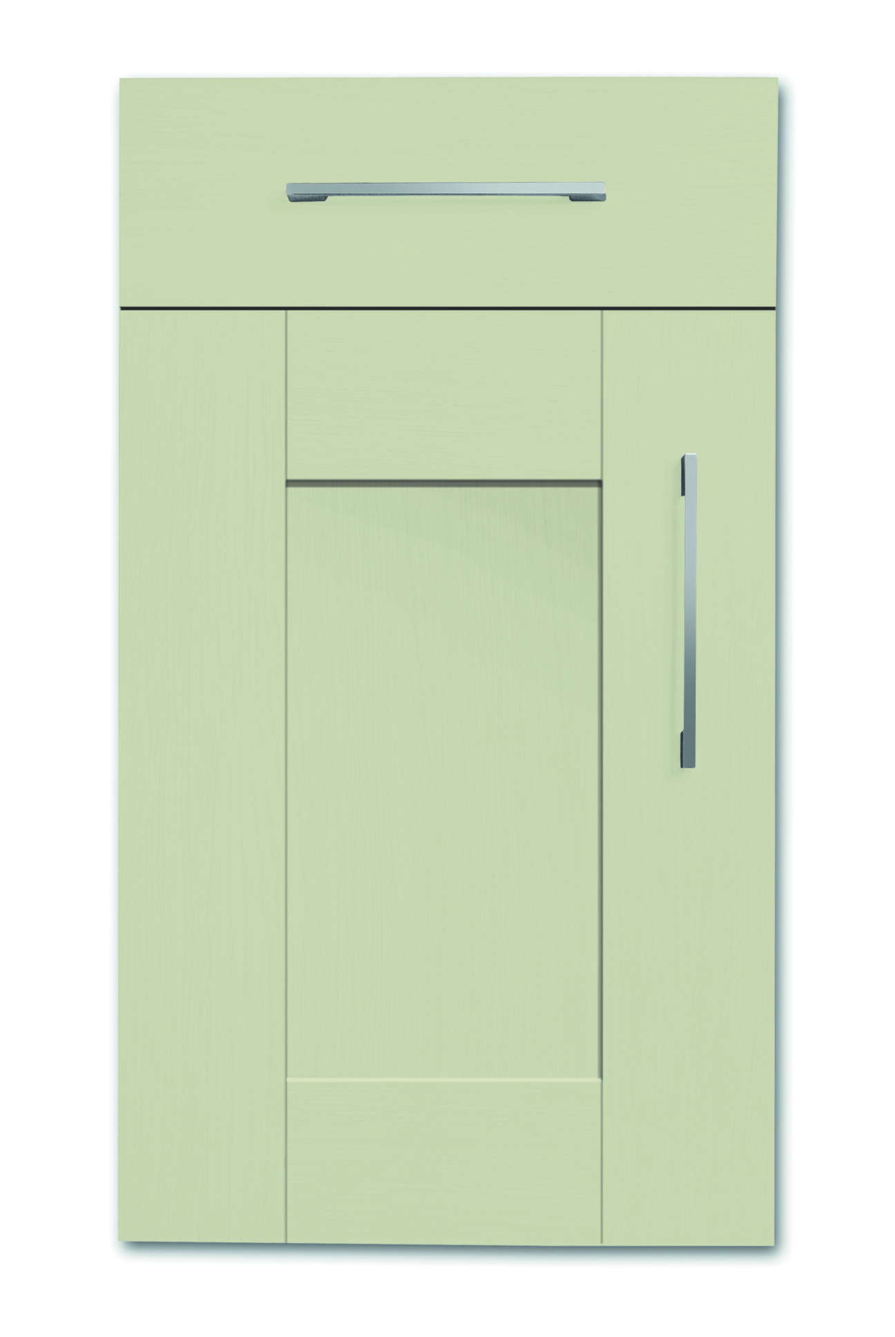 Mirano Richmond Kitchen Painted Traditional Classic Timber Oak Matte Sage Green Tongue Groove Shaker Door