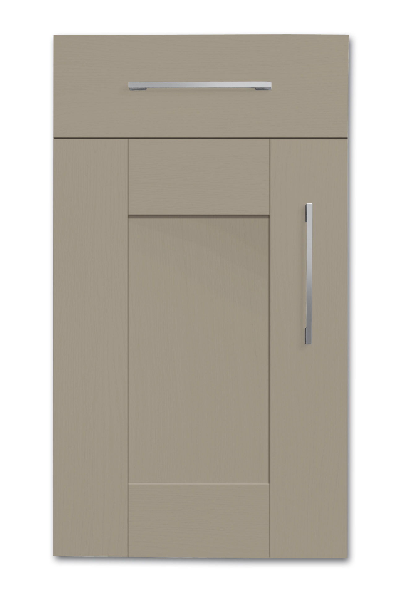 Mirano Richmond Kitchen Painted Traditional Classic Timber Oak Matte Stone Grey Tongue Groove Shaker Door