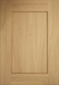 Kitchen Stori Classic Traditional Timber Wakefield Light Oak Timber 5 Piece Shaker Beaded Door
