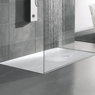 Dupont Corian Acrylic Solid Surface Moulded Showertray Shower Tray Smart Casual Cascade Stand