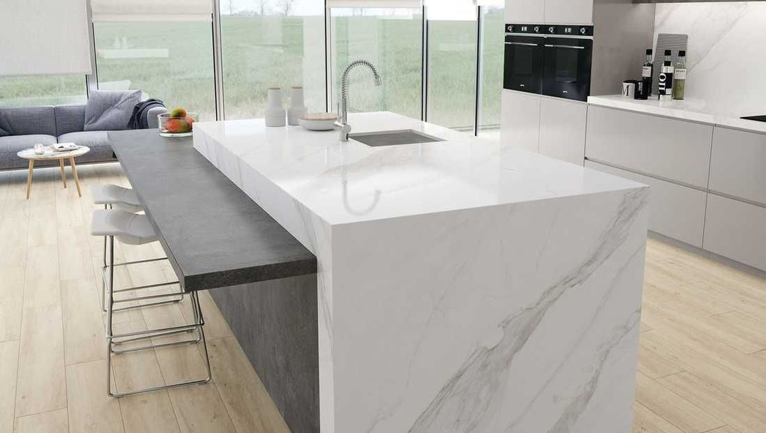 Classic Quartz Stone Solid Surface Kitchen Worktop Counter