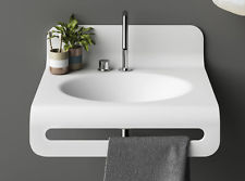 Dupont Corian Acrylic Solid Surface Moulded Undermount Over Under Mount Inset Basin Vanity Sink Wash Oval