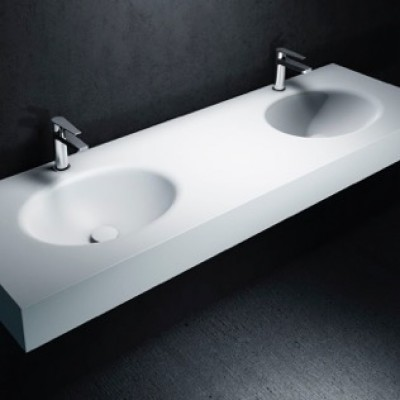 Dupont Corian Acrylic Solid Surface Moulded Undermount Over Under Mount Inset Basin Vanity Sink Wash Oval Commercial